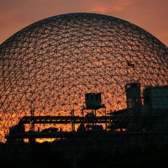 Biosphere at Sunset