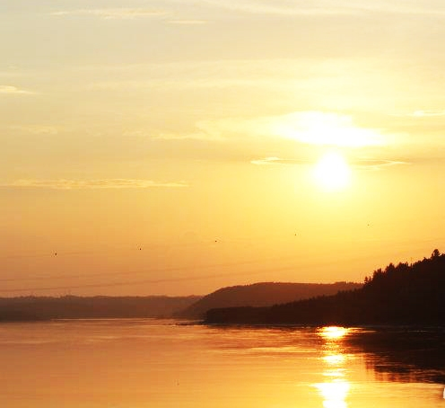 Sunset in Chicoutimi